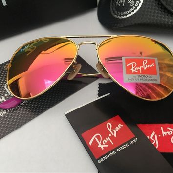 Ray Ban Aviator Sunglasses Gold Frame Pink Mirrored Rb 3025 | Best Deal Online