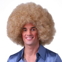 Sepia Color Afro Costume Wig Halloween Wig