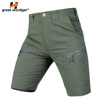 Tactical camping hiking shorts Men Outdoor quick dry breathable breeches spring-summer men's military shorts