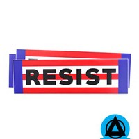 RESIST Sticker - Red, White, & Blue (Set of 3)