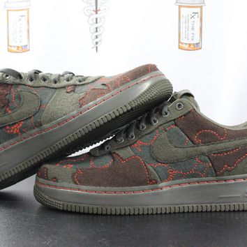 "AUGUAU  Nike Air Force 1 Low Supreme TZ ""Maharam Moss"""