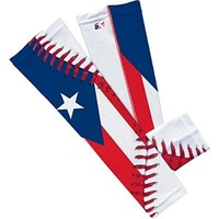 Puerto Rico Flag Baseball Lace Arm Sleeve S/M 2-Pack