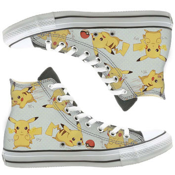 pokemon painted shoes, custom shoes by natalshoes