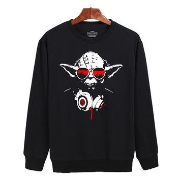 Star Wars Sleeve Letters Sweatshirt Women Hoodies Soft Cotton Autumn Hoodies Men Hip Hop Fashion Print Master Yoda Clothes