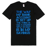 Kevin Hart (Bank Account)-Unisex Black T-Shirt