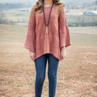 Saving Grace Sweater, Cinnamon