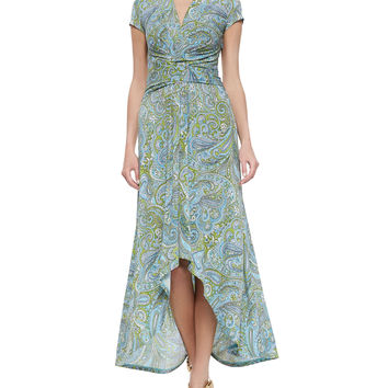 Women's Ashbury Paisley Wrap Dress, Blue Multi - MICHAEL Michael Kors - Blue multi