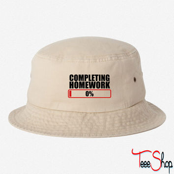 COMPLETING HOMEWORK ZERO 0 % bucket hat