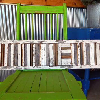 Reclaimed Barn Wood strips, Wall Art, Framed Sculpture, Pallet, Rustic and Shabby Chic