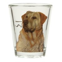 Yellow Labrador Retriever Shot Glass