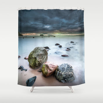 Dead on arrival Shower Curtain by HappyMelvin