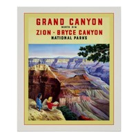 Grand Canyon ~ Vintage Travel Poster