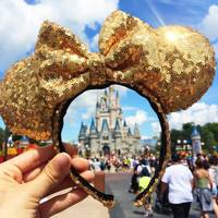 Gold Sequin Minnie Mouse Ears