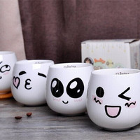 Lovely Mugs with Different Faces Coffe/Milk Cup Ceramic Expression Water Container Cute Cup Ceramic Coffee Mug Travel Hot Selling
