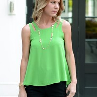 Colorful Tank-Karlie Lollipop Tank-Green-$64.00 | Hand In Pocket Boutique