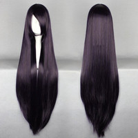 40 in Dark Purple Cosplay Wig