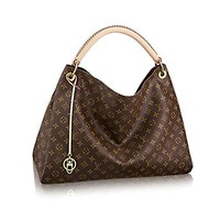 Fashion classic lady LV print flower letter handbag brown