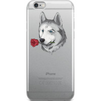Husky iPhone 6 6s Case | Funny Siberian Dog Cover | The Jazzy Panda