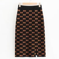 GUCCI Women New fashion more letter print leisure skirt