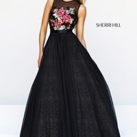 Sherri Hill 21313 Illusion Neck Prom Dress