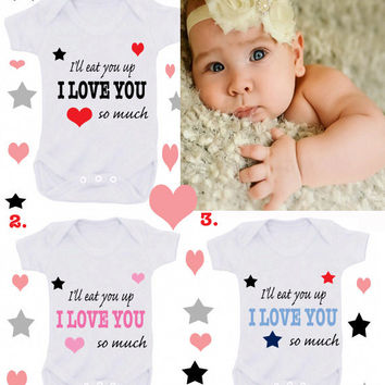 Eat you up Moon & Stars nanny etc 1 x bodysuit or 1 x T-shirt or 2 x white bibs or DESIGN YOUR OWN