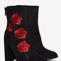 Intentionally Blank Rosa Embroidered Suede Boot