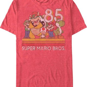 1985 Super Mario Brothers Retro Bros Mens Tee Shirt