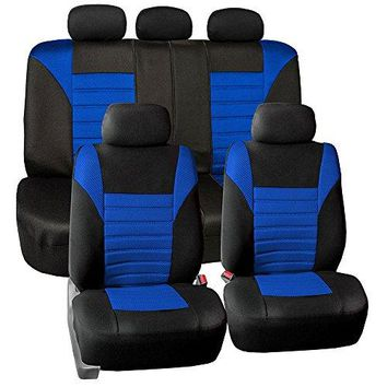 FH Group FH-FB068115 Premium 3D Air Mesh Seat Covers Full Set (Airbag & Split Ready) Fit Most Car, Truck, Suv, or Van