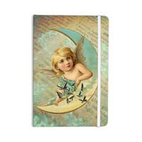 "Suzanne Carter ""Angel"" Teal Yellow Everything Notebook"