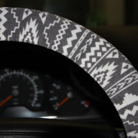 Tribal Wheel Cover - Aztec Steering Wheel Cover - Women's Wheel Cover - Car Accessories .