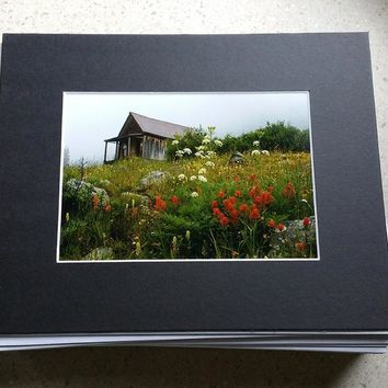 Any 5x7 or 8x10 Print Matted in Black Mat Board