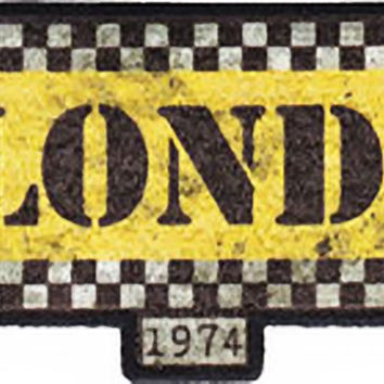 Blondie Iron-On Patch Taxi Logo