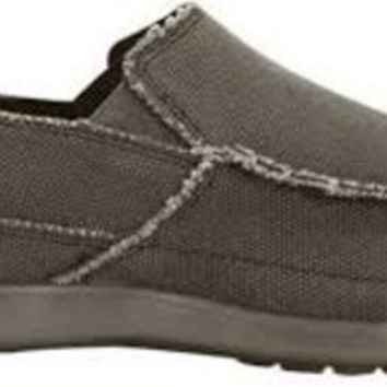 Crocs Men's Avast Slip Ons ~ Chocolate/Chocolate Canvas ~ Relaxed Fit