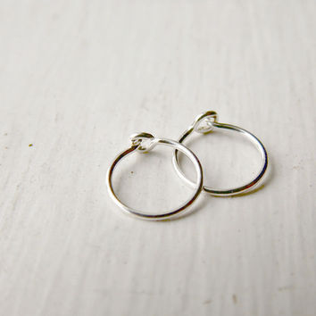 Sterling Silver Tragus Hoop Earrings