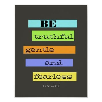 inspirational colorful Gandhi quote poster