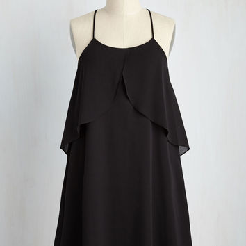 Star-Crossed Flutters Dress in Noir | Mod Retro Vintage Dresses | ModCloth.com