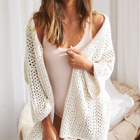 Aerie Open Cardigan , Oatmeal Heather