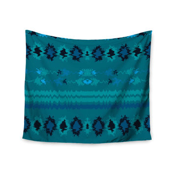 "Nina May ""Turquoise Nava"" Teal Tribal Wall Tapestry"