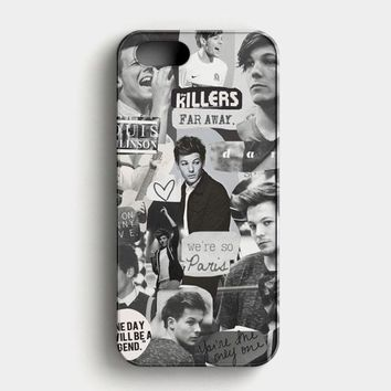 Louis Tomlinson Collage iPhone SE Case