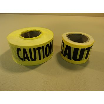 Standard Caution Tape 3-Inch Yellow/Black 2 Rolls -- New