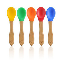 Baby Pinch Boutique Fine Bamboo Spoon Gift Set in Keepsake Box (Rainbow Set of 5)