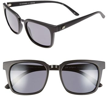 Women's Le Specs 'No Mistakes' 53mm Polarized Sunglasses - Black/ Polarized Smoke