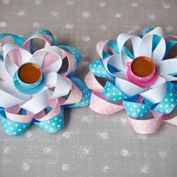Flower hair bow coffee cups