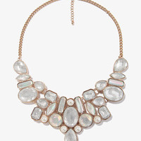 Bejeweled Mesh Chain Necklace   FOREVER 21 - 1027704898