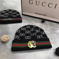 GUCCI Woman Fashion Beanies Winter Embroidery LOGO Hat Cap-2