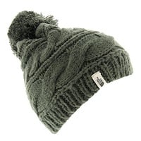 The North Face Triple Cable Pom Beanie Oscar Green, One Size