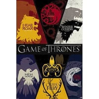 Game of Thrones House Print Poster 10x16