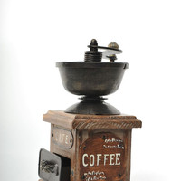 Retro Trosser Coffee Mill Replica Vintage Decoration Antique Trinket Box