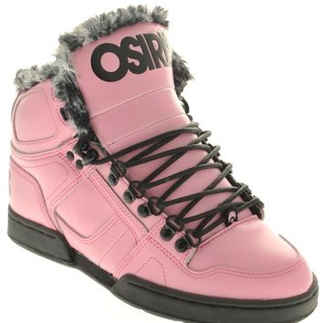 Osiris Pink Black Cheetah Nyc83 Shearling Womens Hi Top Shoe | Osiris | FreestyleXtreme Canada