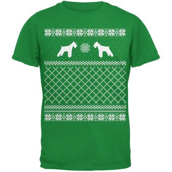 DCCKJY1 Schnauzer Ugly Christmas Sweater Irish Green Adult T-Shirt